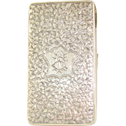 An Antique Silver Card Case Or Lady`s Purse, 1883