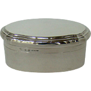 A Silver Antique Oval Shaped Box, 1918.