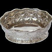 An Attractive Antique Silver Bon Bon Bowl, 1882.