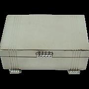 An Art Deco Vintage Silver Cigarette Box, 1937.