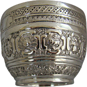 A Victorian silver bowl designed to be used by Astrologers, 1882