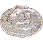 An Antique Silver Trinket Box With A Figure Cupid, 1902