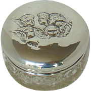 An Antique Silver Topped Cut Glass Dressing Table Jar, 1909.