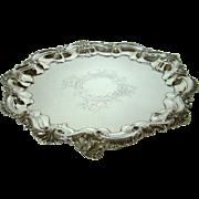 A Large Antique Silver Salver/Tray, 1902.