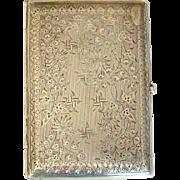 A Victorian Silver Aide Memoire/Card Case, 1896.