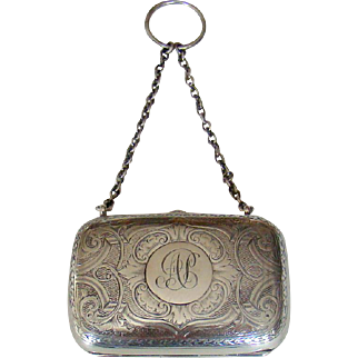 An Antique English Silver Purse, 1893.