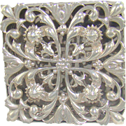 An Unusual Antique Silver Trinket Or Pot Pourri box, 1911