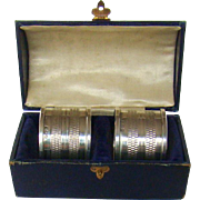 A Pair Of Vintage Silver Napkin Rings,1948