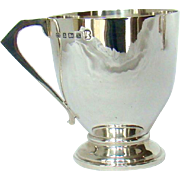 A Vintage Silver, Art Deco Style, Christening Mug,1934