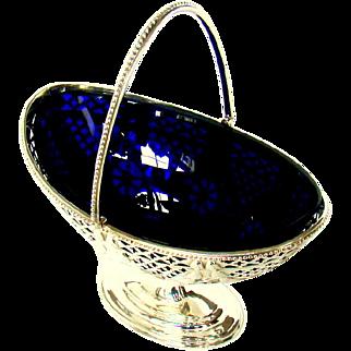 An Antique Silver Sugar Basket, 1908.