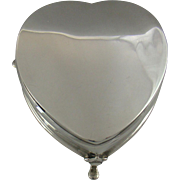 A Silver Heart Shaped Jewellery Box, 1909