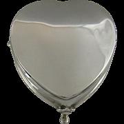 A Silver Heart Shaped Jewellery Box, 1909