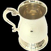 A Vintage Silver, Pint Sized Tankard, 1966.