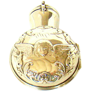A Victorian Silver Cased Perfume Bottle, 1897.