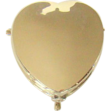 An Antique Silver, Heart Shaped Jewellery Box, 1909.