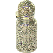 A Small Silver Antique Perfume Bottle, 1888.