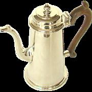 A Stylish George V. Vintage Silver Coffee Pot, 1931.