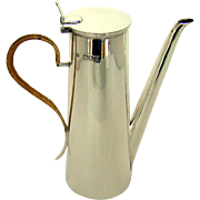 A Victorian Sterling Silver Coffee Jug, Designed For One Person,1896.