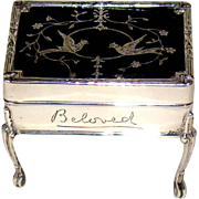 An Antique Sterling Silver And Tortoiseshell Lidded Jewellery Box, 1908