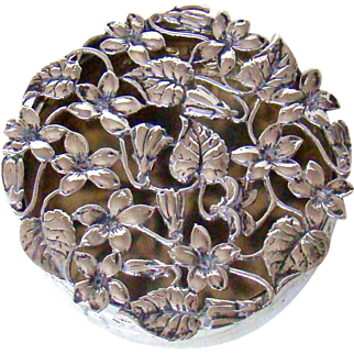 An Antique Sterling Silver Pill Box, 1909.