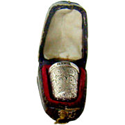 Antique Sterling Silver Thimble, 1885.