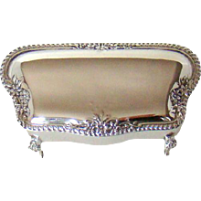 Sterling Silver Antique Jewellery Box, 1908.