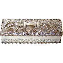 A 19th Century Trinket Box In Sterling Silver, 1897.