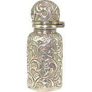 A Small Silver Victorian Perfume Bottle, 1888.