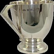 A Vintage Silver Art Deco Style Christening Mug, 1934.
