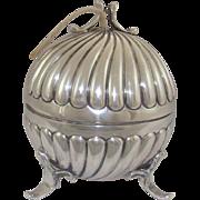 A Silver Antique String Box, 1900.