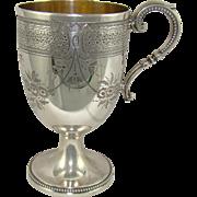 A Victorian Silver Christening Mug, 1873.