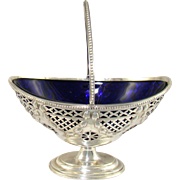 An Edwardian Silver Sugar Basket, 1908.