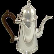 Edwardian Silver Coffee Pot, 1909.