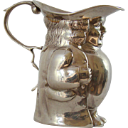 A George V. Antique silver novelty Toby Jug, 1912