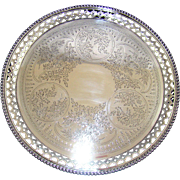 A Victorian Silver Tray/Salver, 1880.