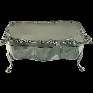 An Antique Silver Jewellery/Trinket Box, 1903.