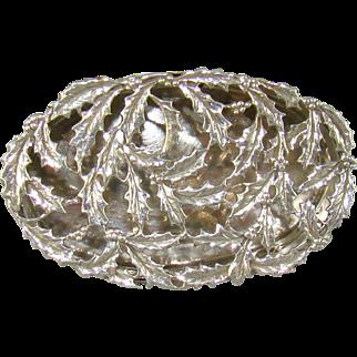 An Edwardian Silver Pot Pourri/Pill Box, 1909.