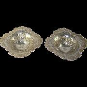 A Pair Of Antique Silver Bon Bon Dishes, 1901.