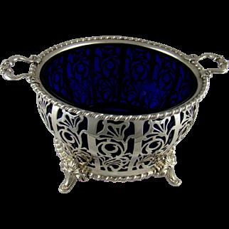 A George VI Vintage Silver Cream Bowl, 1937.