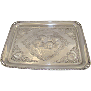 An Antique Silver Dressing Table Tray, 1906.