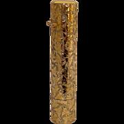 A Victorian Silver Gilt Perfume/Pill Bottle, 1884.