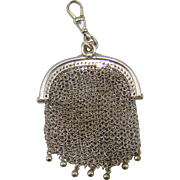 An Antique Silver Chain Mesh Purse, 1916.