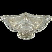 A Very Impressive Antique Silver Basket, 1896,