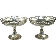 An Antique pair Of Silver Bon Bon dishes, 1912.