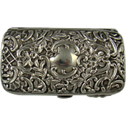 A Good Quality Victorian Silver Purse,1898.