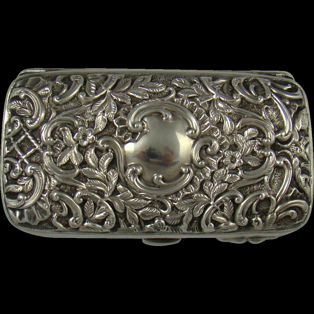 A Good Quality Victorian Silver Purse,1898.