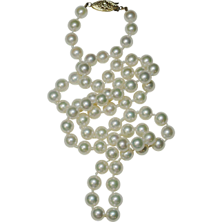 Exceptional Cultured Akoya Pearl Necklace, 6.50 x 6.00mm