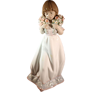 Lladro Society Limited Edition issue for 1987  Spring Bouquets  Girl with flowers