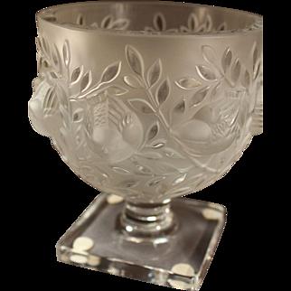 """Lalique:  A 1948 rare pair of """"Elizabeth Vases"""""""