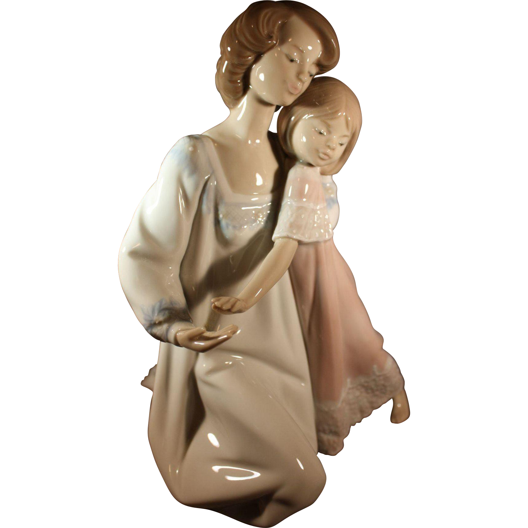 """Lladro mother and child figurine """"good night from"""